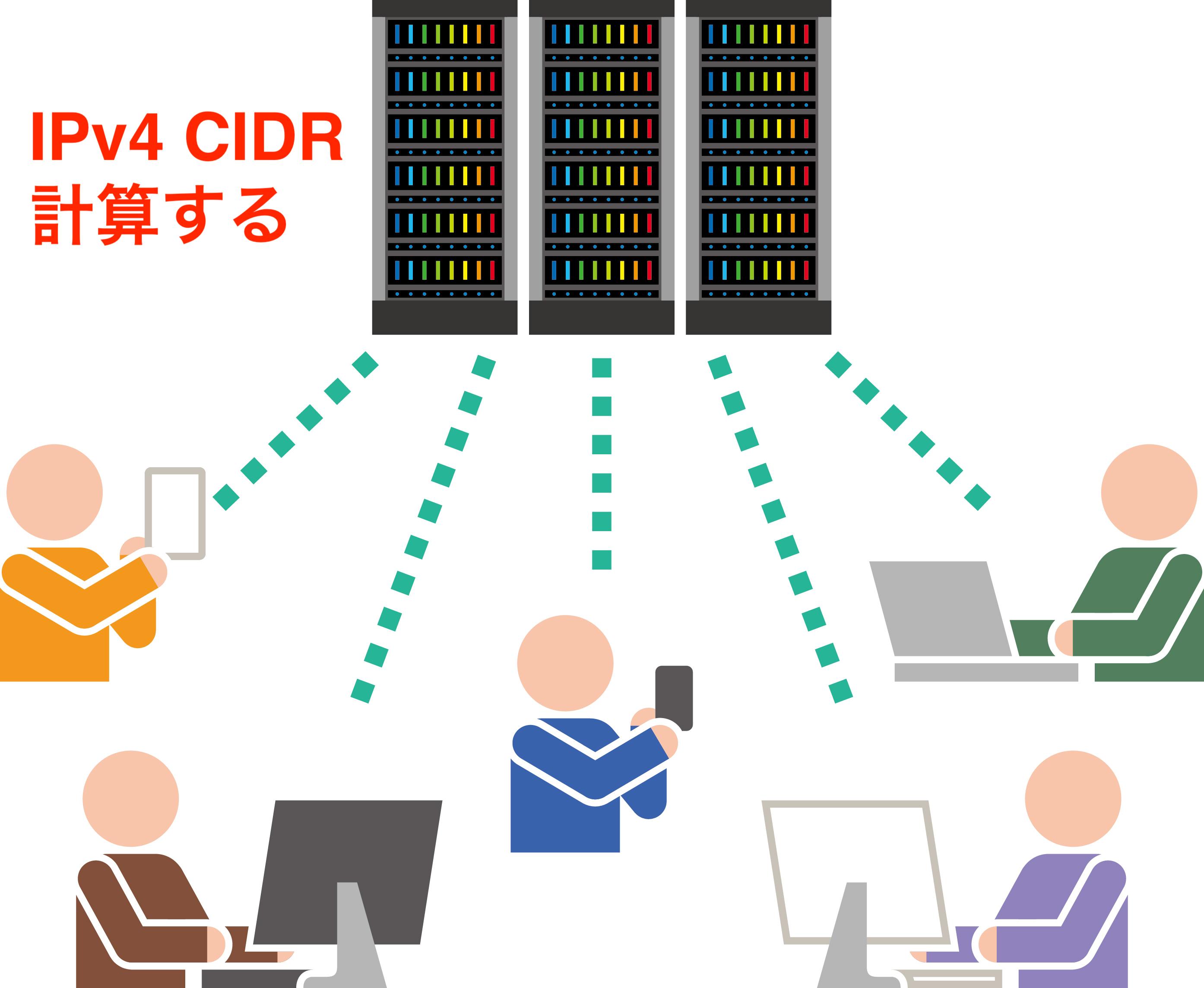 CIDR IPアドレス範囲の計算方法 サブネットマスク